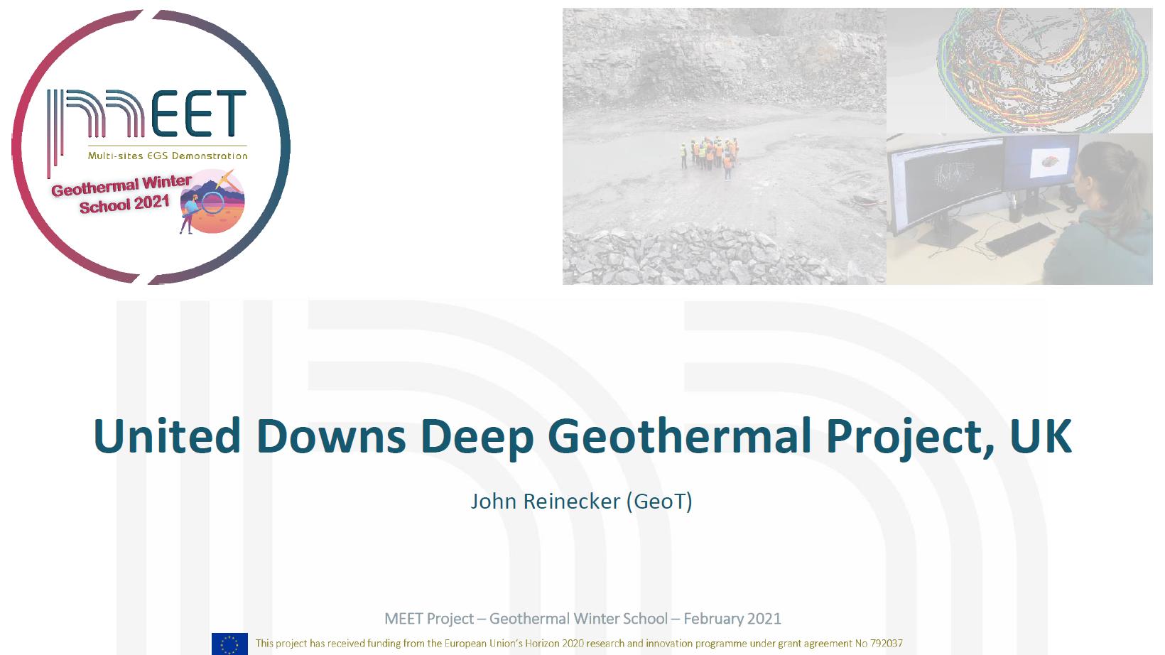 MEET Winter School Reinecker first slide