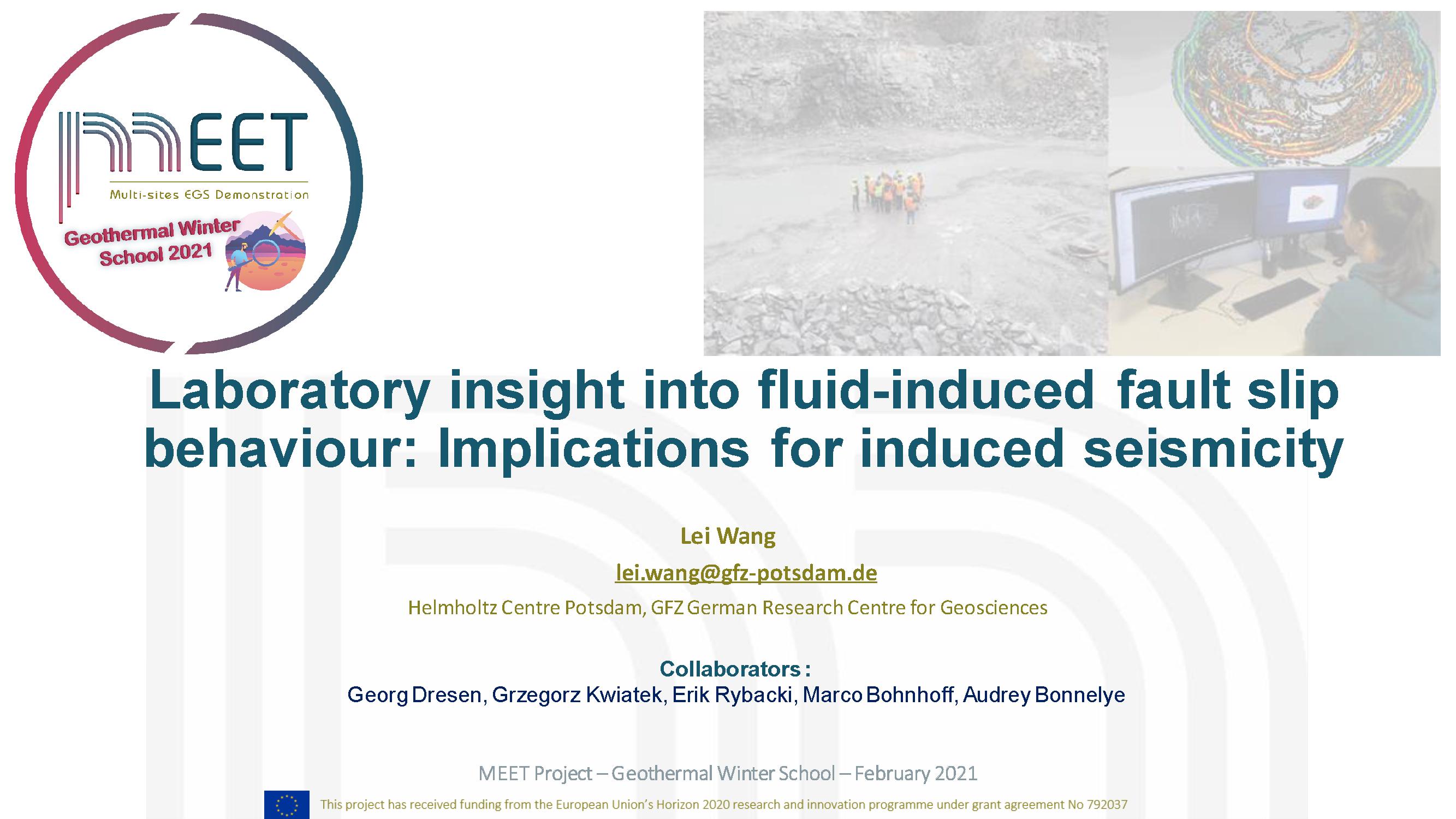 MEET Geothermal Lei Wang first slide visual