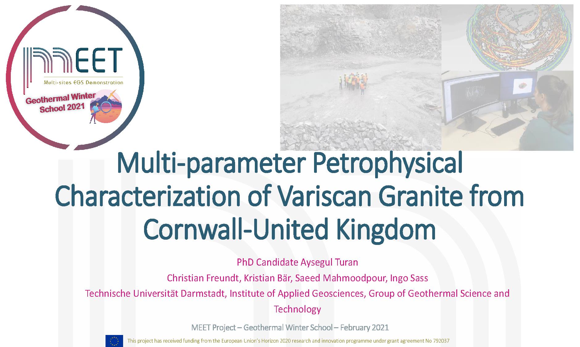 MEET Geothermal Winter School Aysegul Turan first slide visual