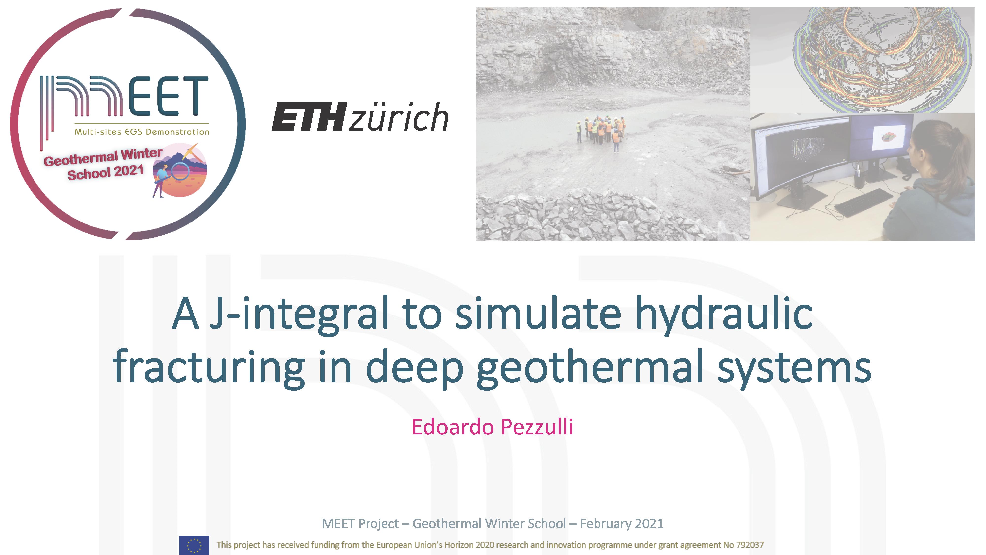 MEET Geothermal Winter School Edoardo Pezzulli first slide visual