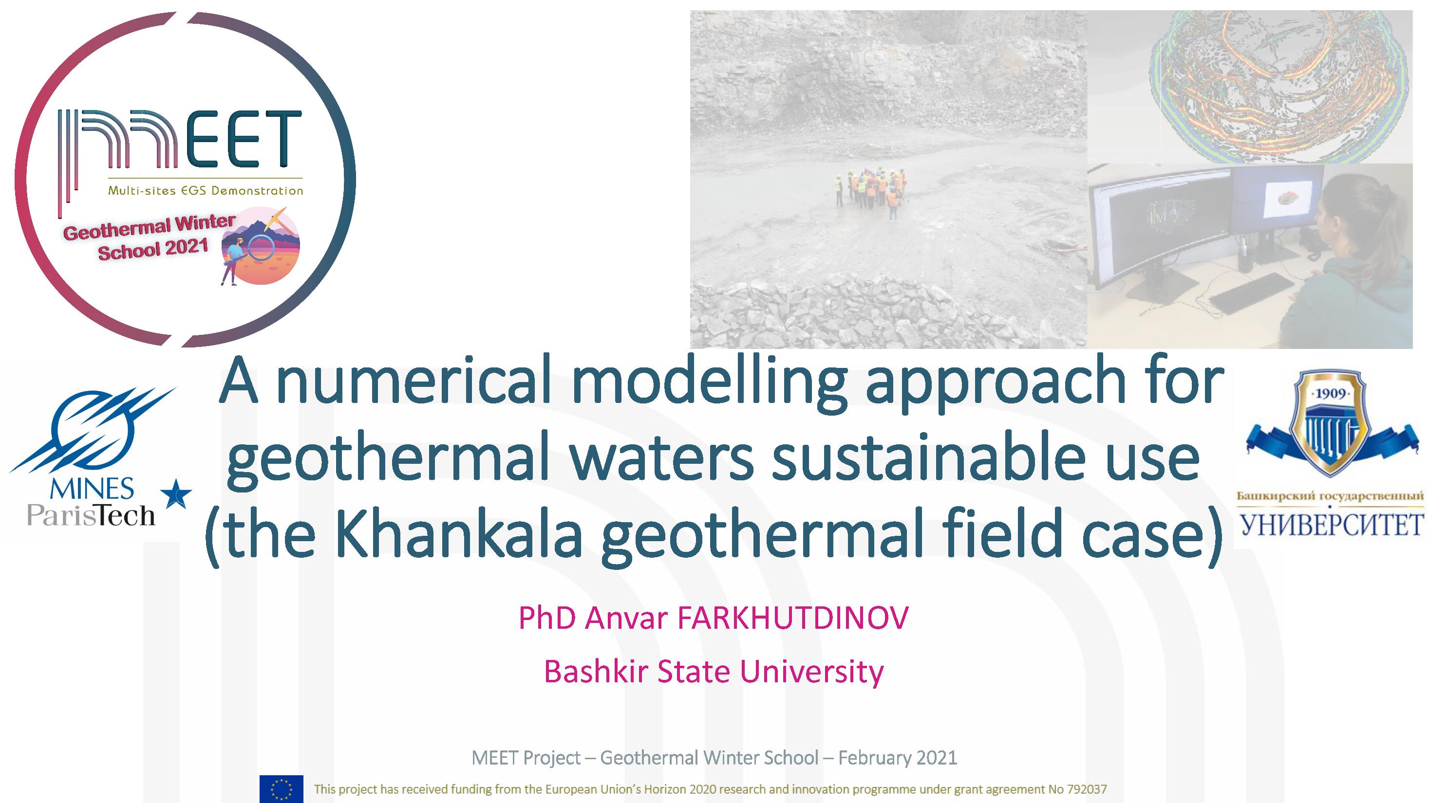 MEET Geothermal Winter School Anvar Farkhutdinov first slide visual