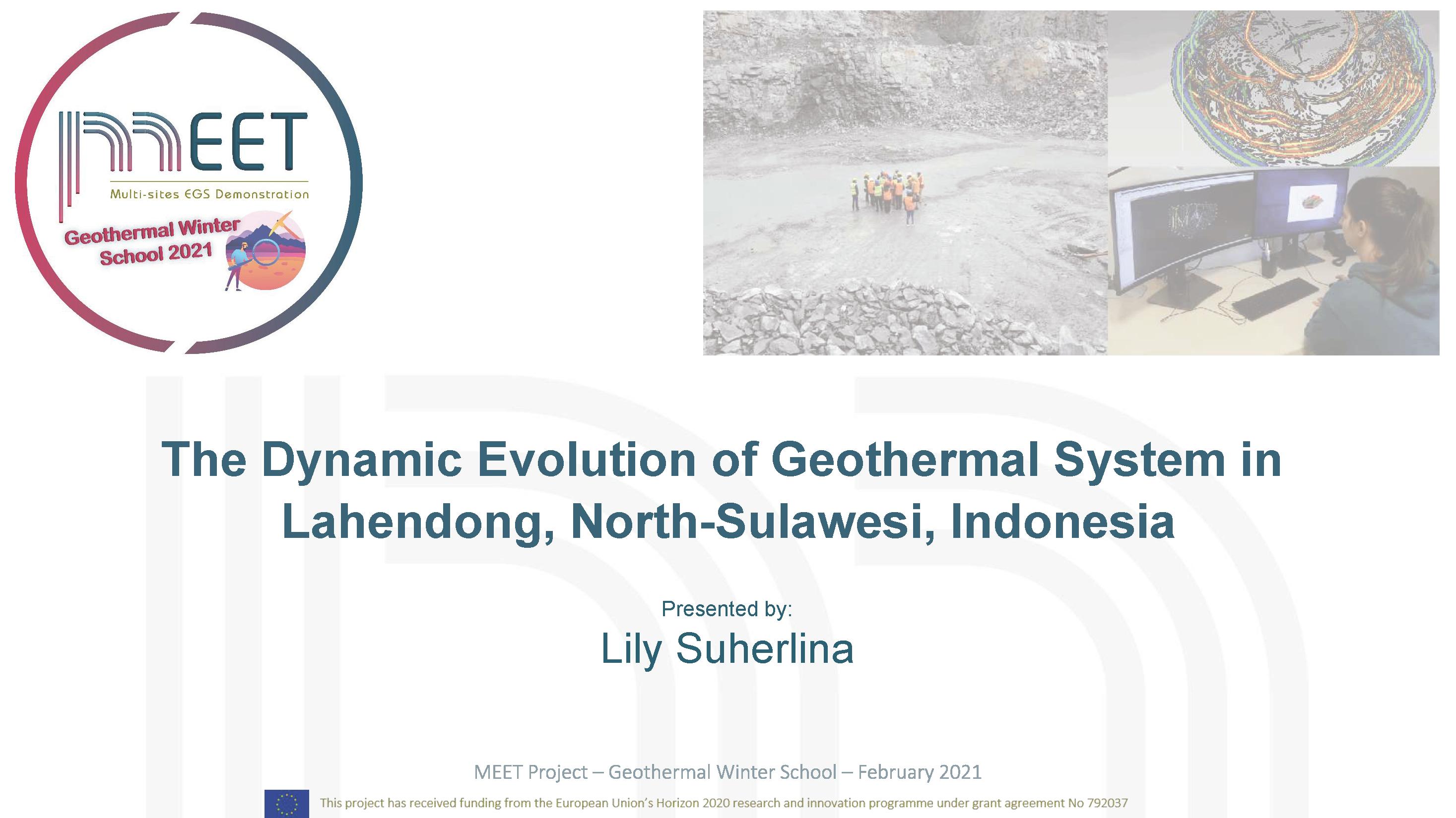 MEET Geothermal Winter School Lily Suherlina first slide visual