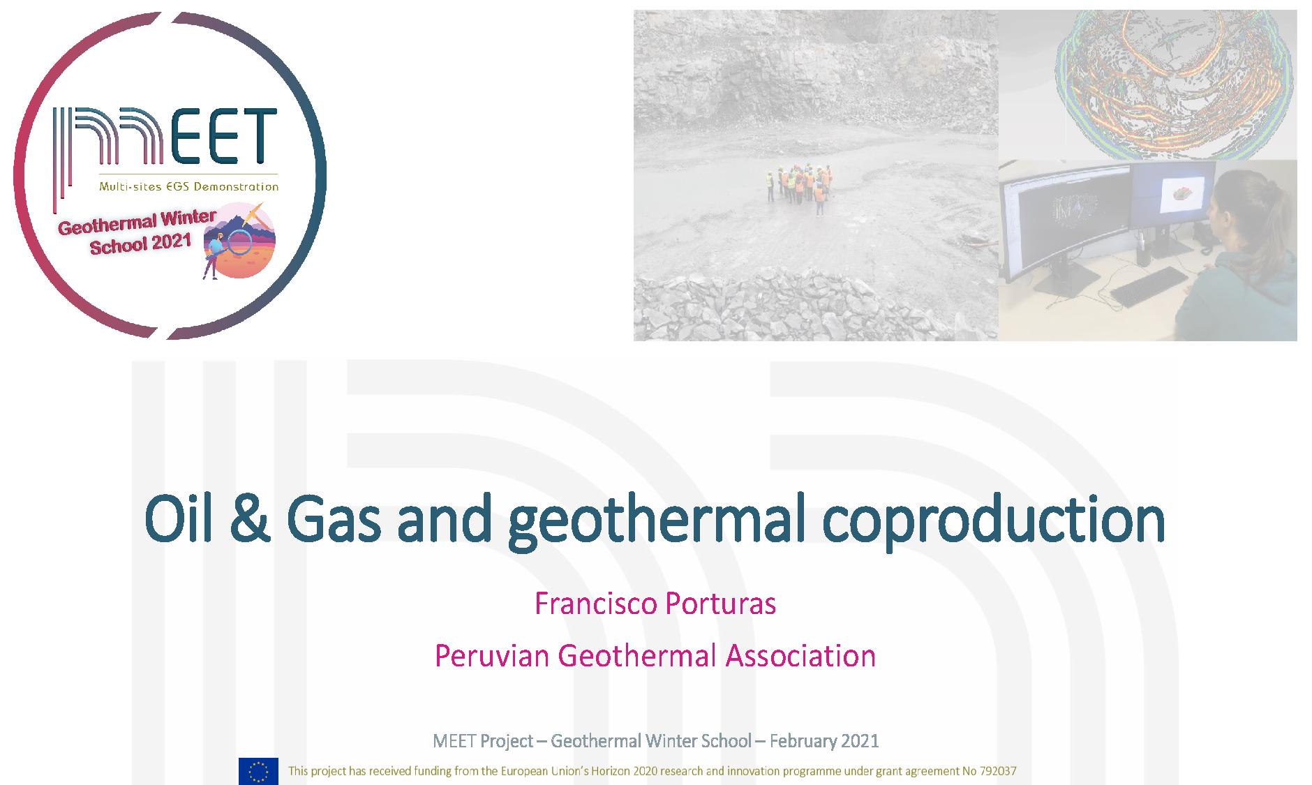 MEET Geothermal Winter School Porturas first slide visual