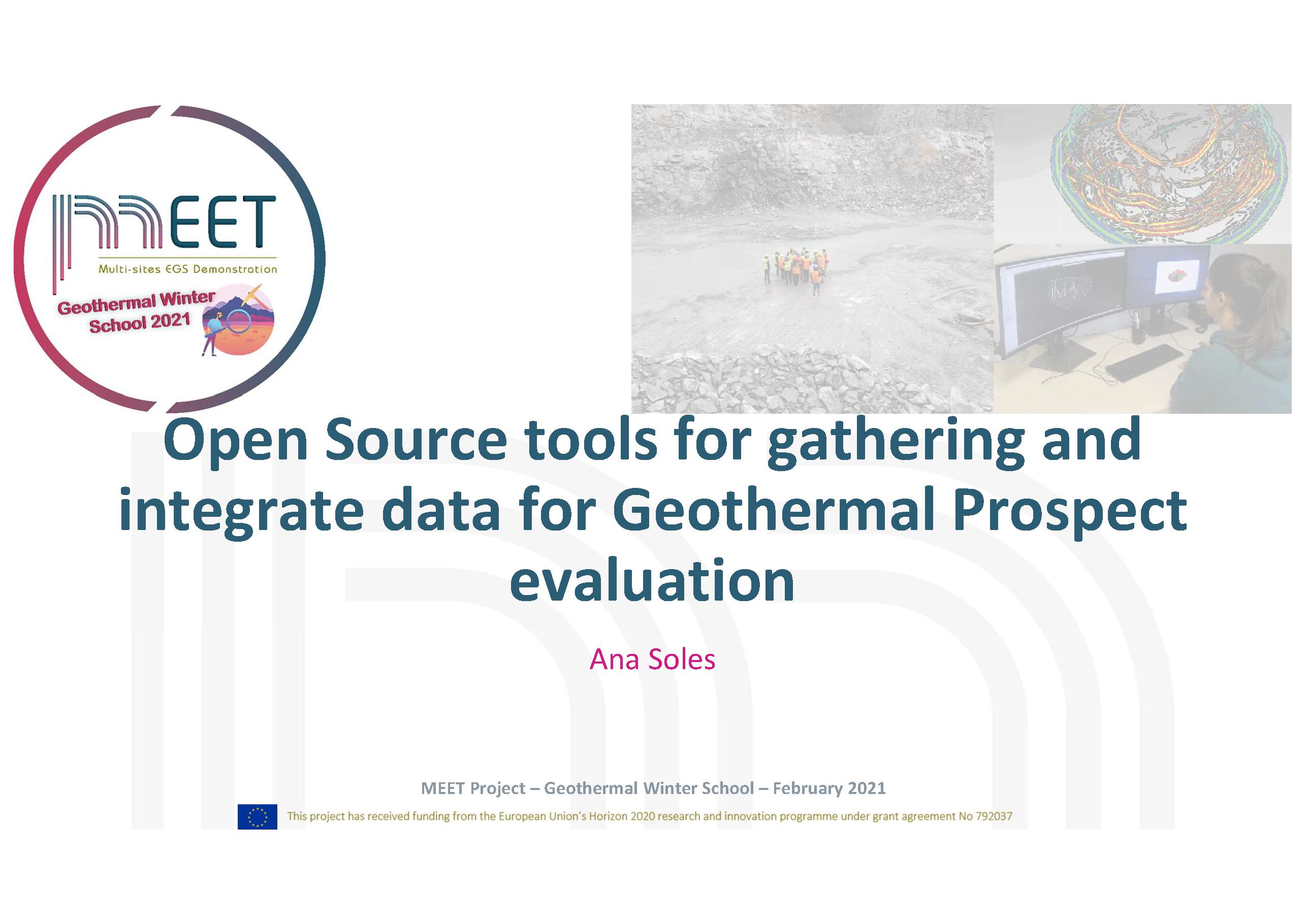 MEET Geothermal Winter School Soles first slide visual