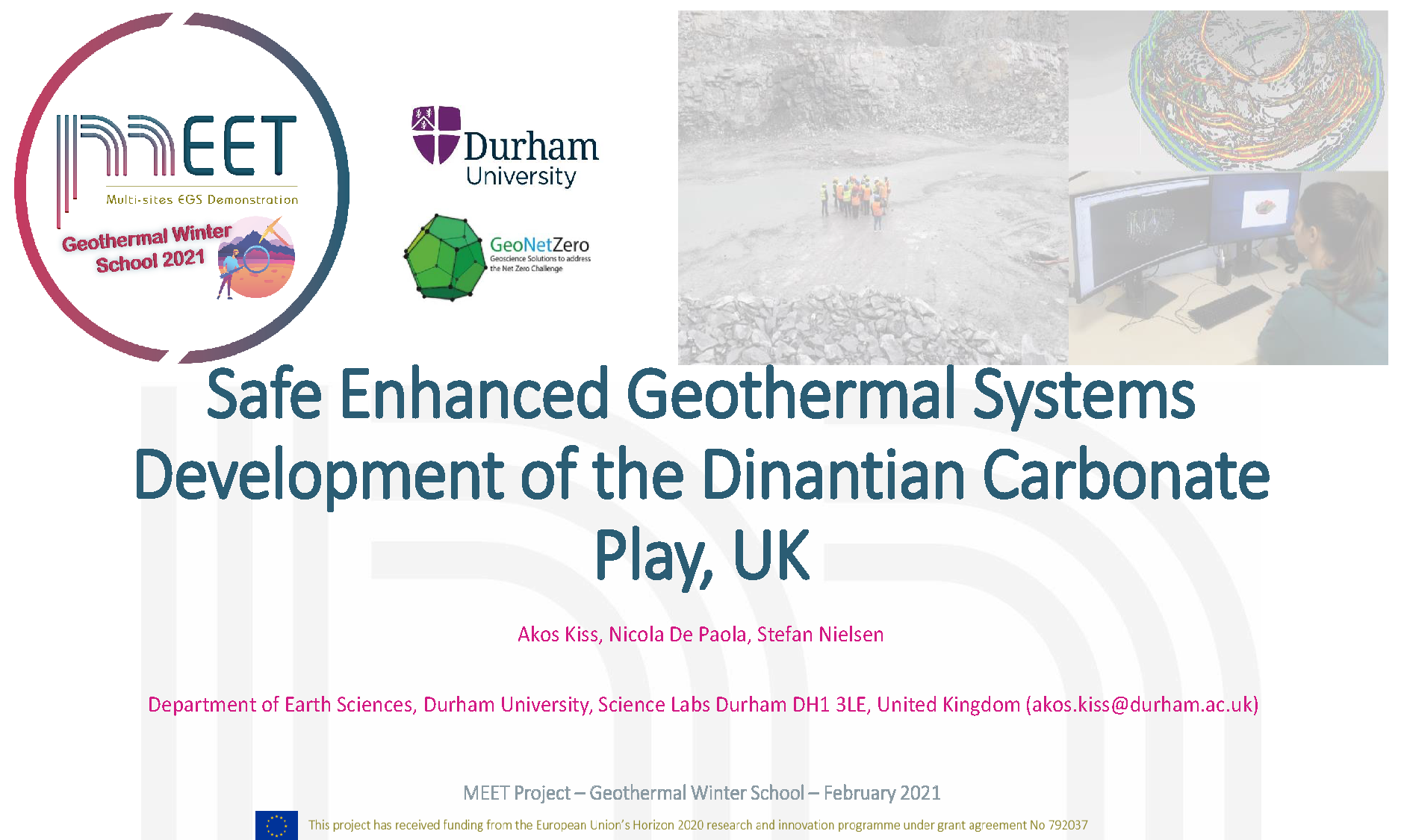 MEET Geothermal Winter School Akos Kiss first slide visual