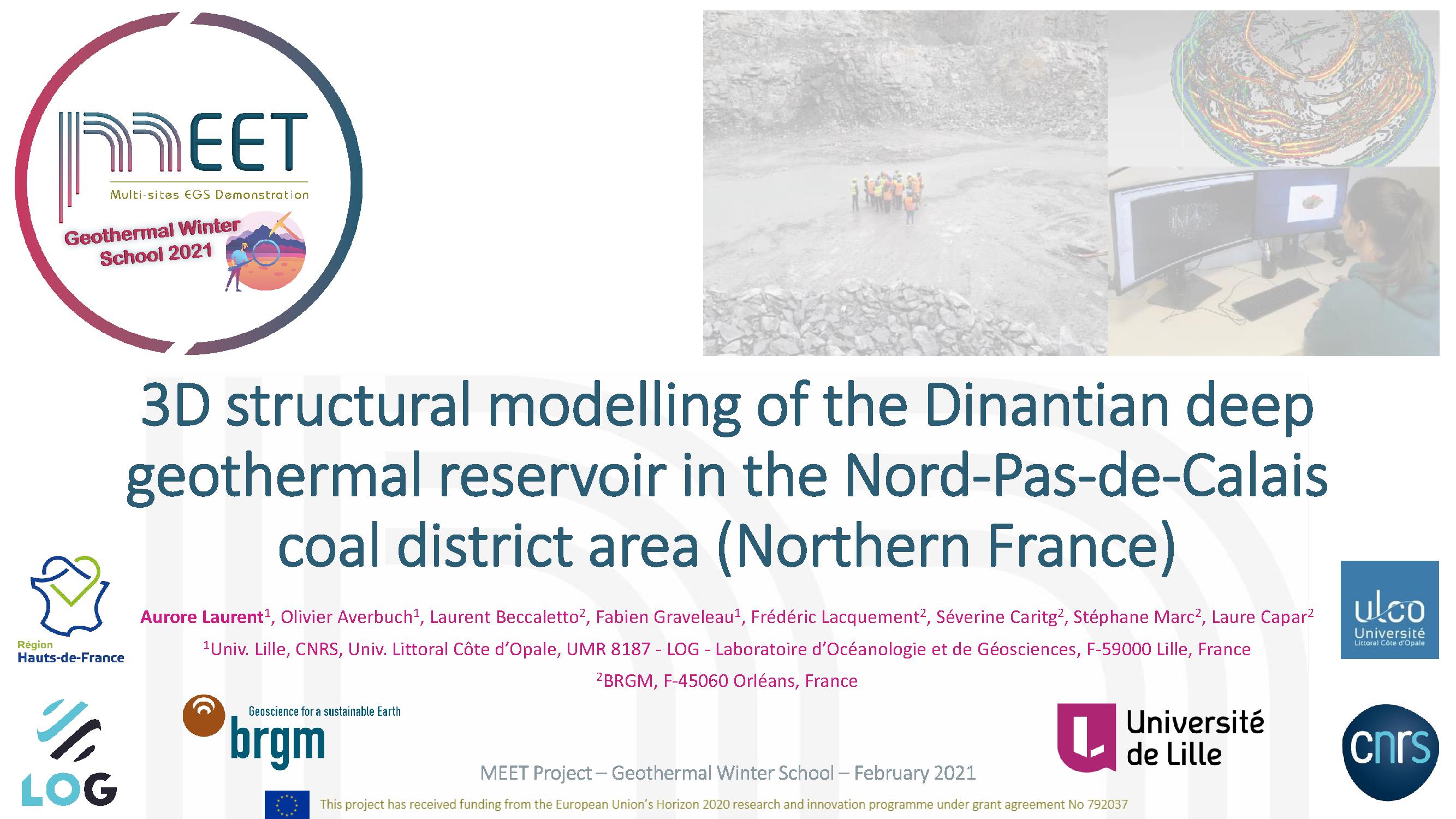 MEET Geothermal Winter School Aurore Laurent first slide visual