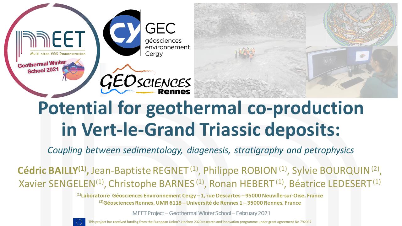MEET Geothermal Winter School Cédric Bailly first slide visual