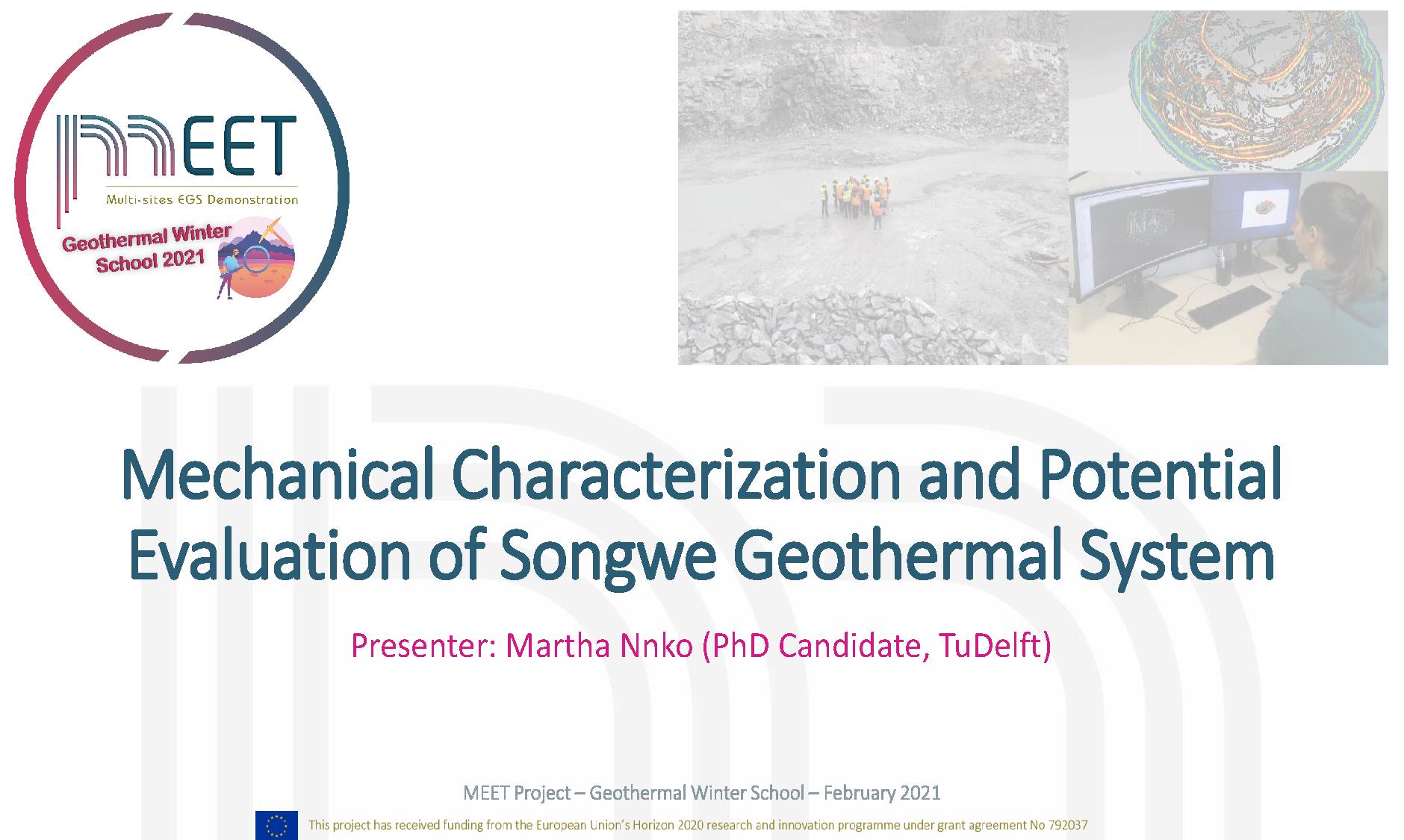 MEET Geothermal Winter School Martha Nnko first slide visual
